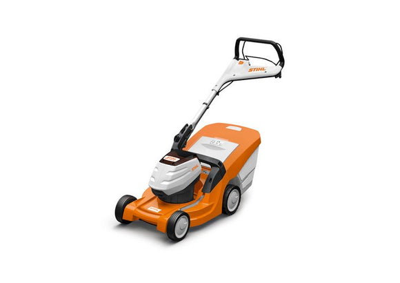 STIHL RM 443 TC Walk Behind / Push Mower in orange with black and white details