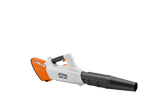 STIHL BGA 100 Cordless Blower product image, showing the image from the side. The product is white and features black and orange details