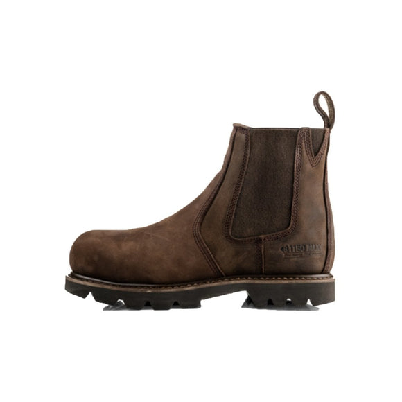 Buckler Max Buckflex boot in chocolate oil leather