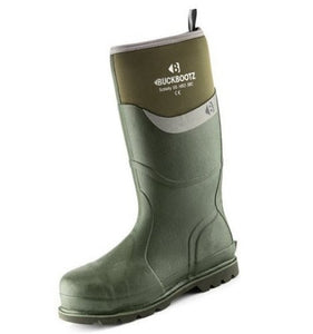 Buckler Safety Wellington Boot in olive green