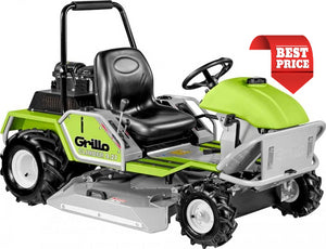 Product image of the GRILLO CIMBER 9.27 hydrostatic ride on brush cutter in green and black