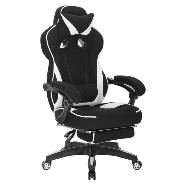 Gaming Chair Racing Chair Office Chair Computer Chair Desk Chair Sports Seat with Headrest Lumbar Cushion with Footrest