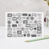 Biscuit collection black and white illustrated blank greeting card