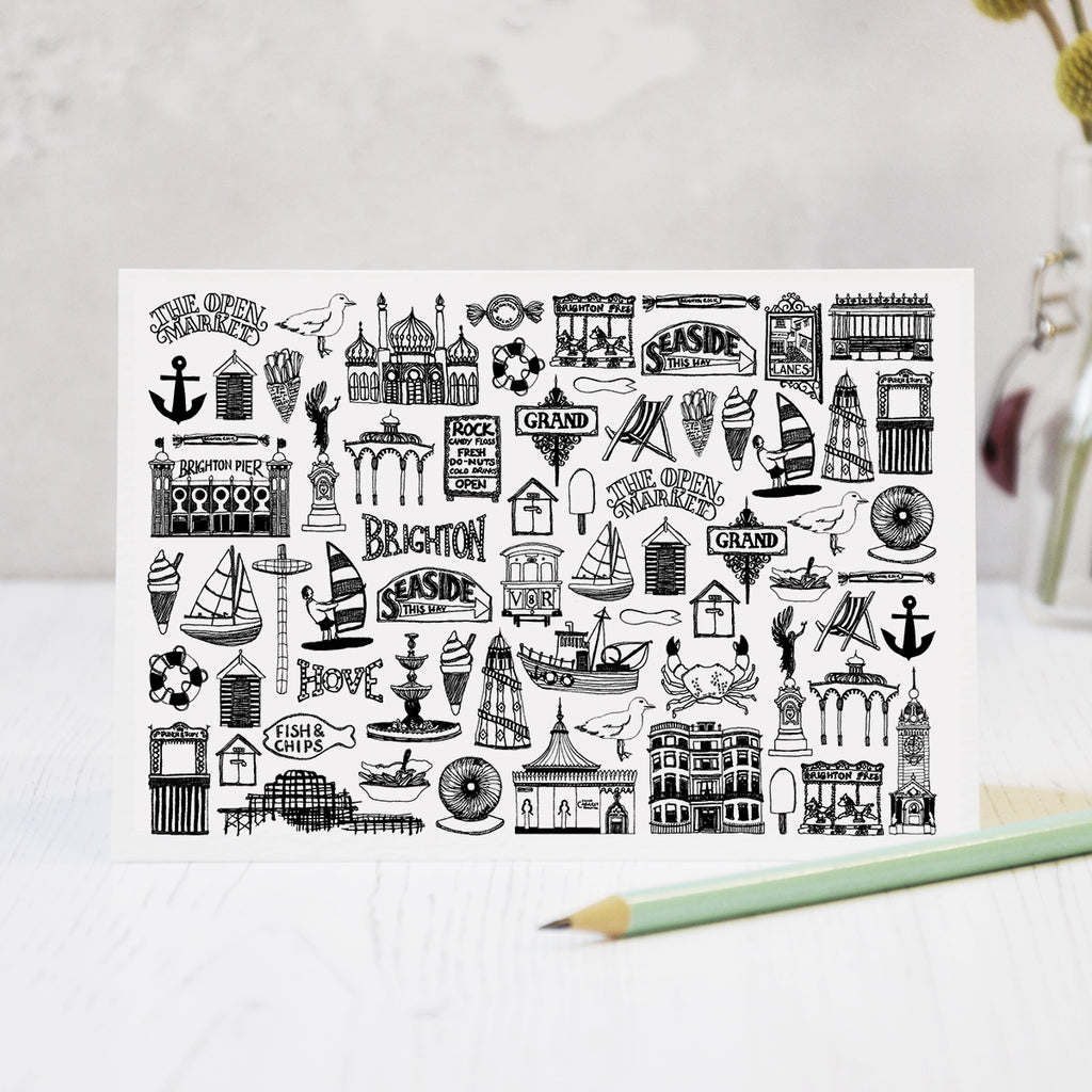 Brighton Mix Greeting Card