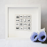 Brighton personalised illustrated wall art