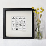 Cornwall illustrated wall art