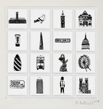 London illustrated wall art