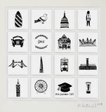 London personalised illustrated wall art