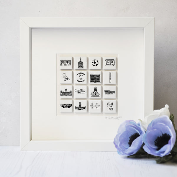 Liverpool Personalised  Art In Box Frame