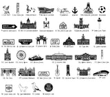 Liverpool illustrated wall art - small