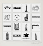 New York personalised illustrated wall art