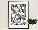 Personalised New York wedding print (A3)