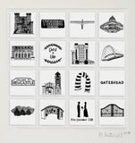 Newcastle personalised illustrated wall art