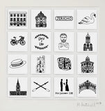 Oxford personalised illustrated wall art