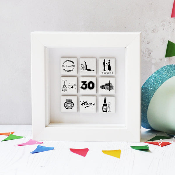 Personalised Birthday Tile Frame - Small