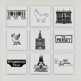 Liverpool Tiles in Box Frame - Small