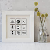 London Tiles in Box Frame - Small