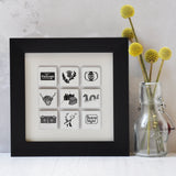 Scotland illustrated wall art - small