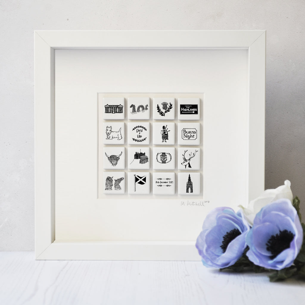 Personalised Scotland Tile Frame - Large