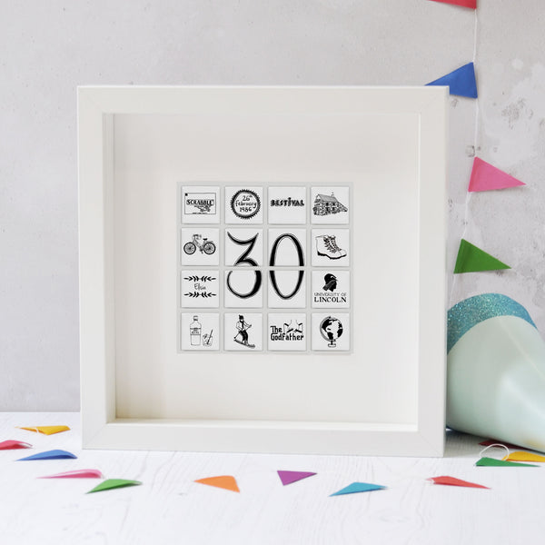 Personalised Birthday Tile Frame - Large