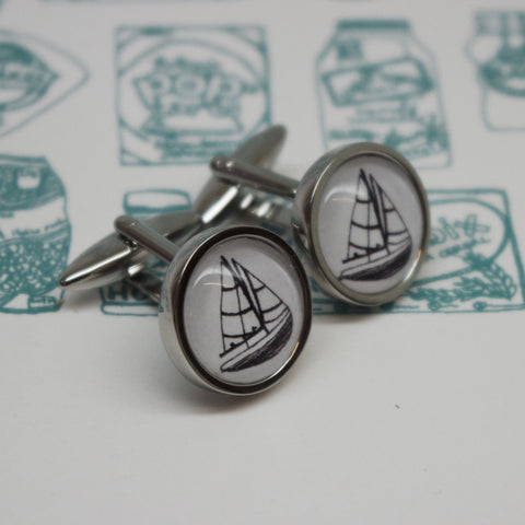 Illustrated Boat Cufflinks