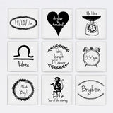 Personalised New Baby 9 Tile Frame - Small