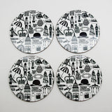 British coasters set of 4