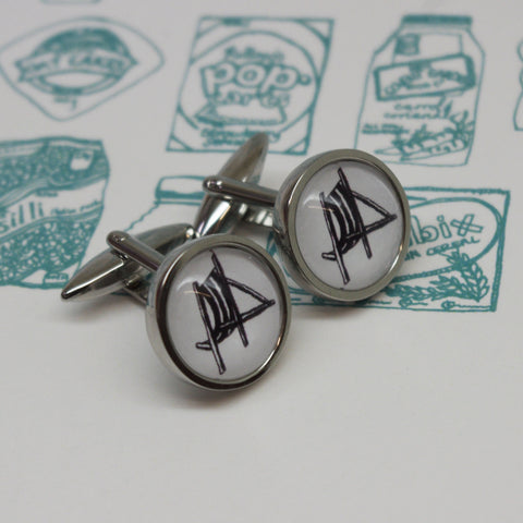 Illustrated Deck Chair Cufflinks