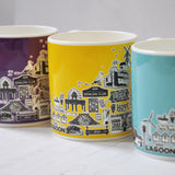 Hove yellow illustrated mug