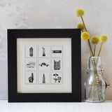 New York illustrated wall art - Small