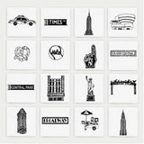 New York illustrated wall art - Large