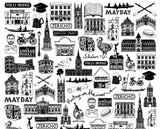 Oxford Illustrated Black And White Print
