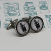 Illustrated Piper Cufflinks
