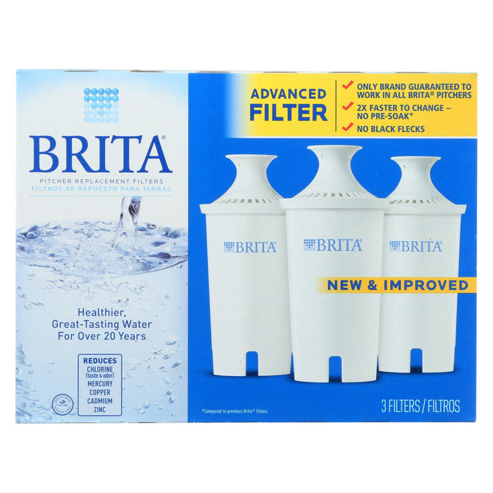 Brita - Replacement Pitcher And Dispenser Filter - 3 Pack