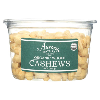 Organic Whole Cashews - Case Of 12 - 9 Oz.