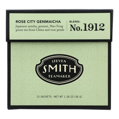 Smith Teamaker - Tea Green Rose City - Case Of 6 - 15 Bag