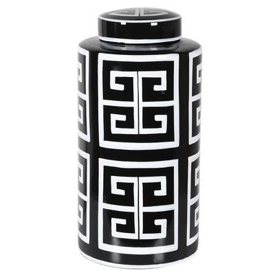 Monochrome Print Ginger Jar (2 sizes)