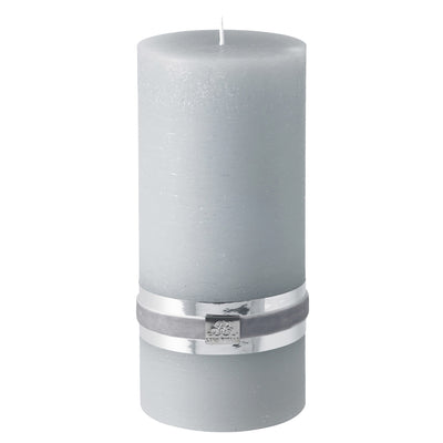 Lge Grey Rustic Pillar Candles