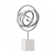 Spiral Sculpture With Block Stand