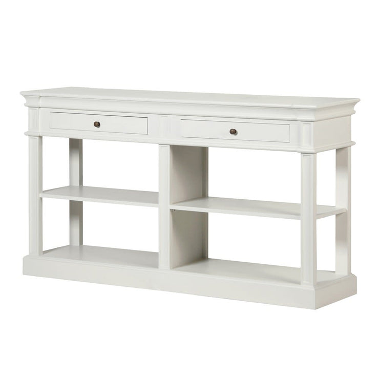 White Buffet Wood Console Table