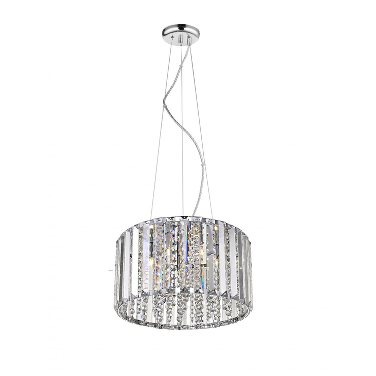 Diore Crystal Chrome Ceiling Light