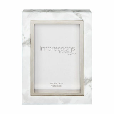 White Marble Look 4 inch x 6 inch Frame