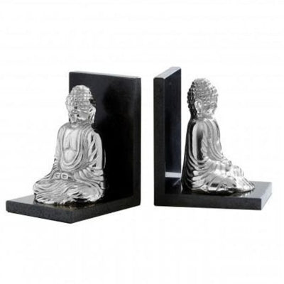 Set Of 2 Bookends With Buddha