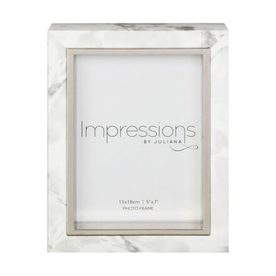 White Marble Look 5 inch x 7 inch frame