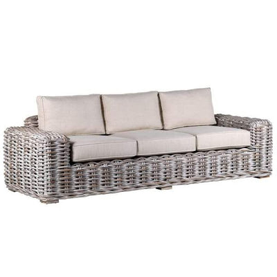 Rattan White Wash Sofa