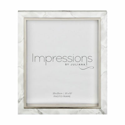 White Marble Look 8 inch x 10 inch frame
