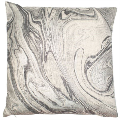 Silver Marble Effect Cushion