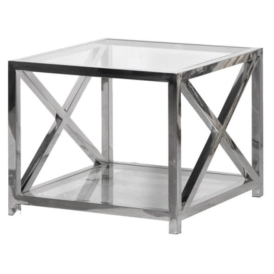 X Frame Side Table