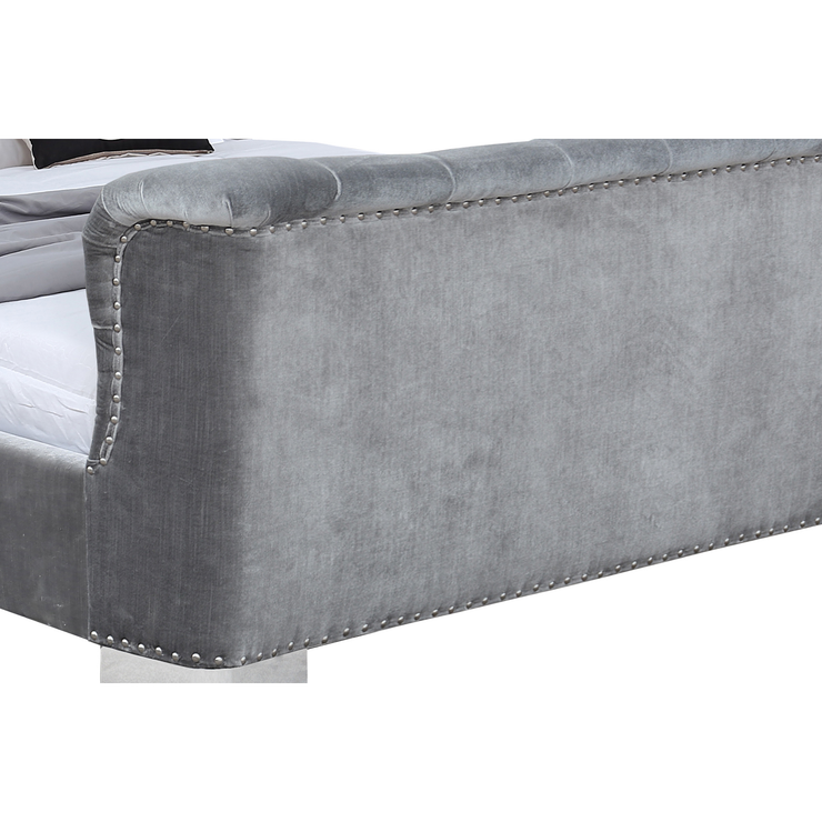 Belvedere Bed Silver Grey