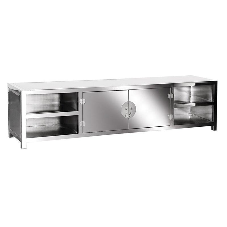Mario Stainless Steel Low TV Unit